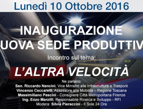 Inaugurazione Nuova Sede Produttiva – 10 ottobre 2016